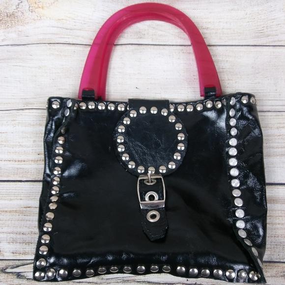 Porkchop Handbags - Porkchop | Studded Hard-Bottomed Leather Handbag